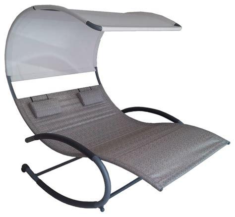 chaise rocker double chaise rocker sienna modern outdoor rocking