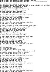 song lyrics for born to make you happy