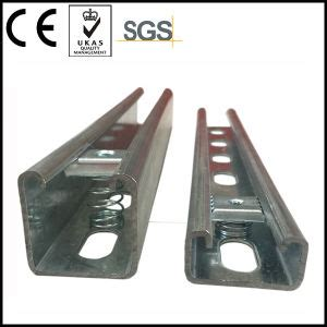 china hdg finished unistrut channel with spring nut