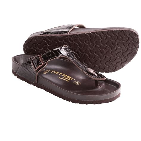 tatami sandals tatami by birkenstock gizeh croco sandals leather for