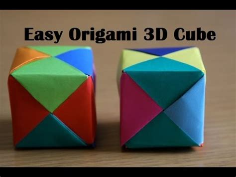 3d Cube Origami - how to make a 3d cube with paper 28 images pattern for
