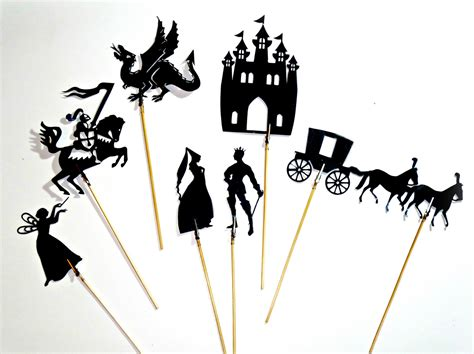 How To Make Paper Shadow Puppets - fairytale shadow puppets felt