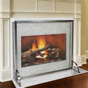pilgrim 39 x 31 stainless steel newport fireplace