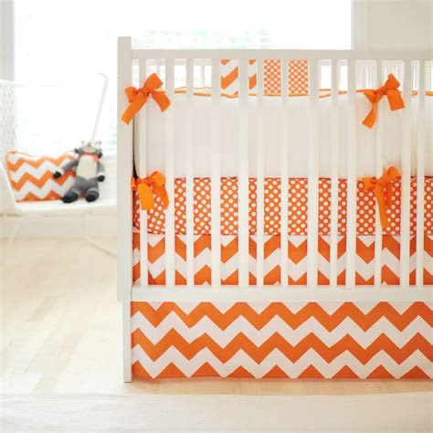 orange and white bedding white and orange crib bedding contemporary nursery new
