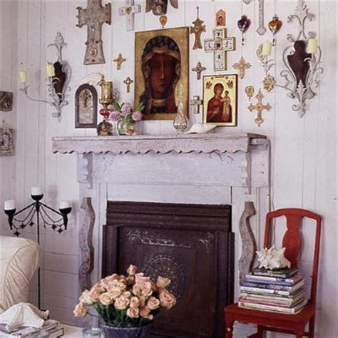 Catholic Home Decor Sweeter Homes Sensibly Shabby Bungalow