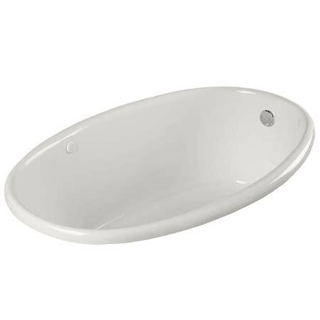 proflo bathtub proflo pfs5838bs biscuit 58 quot x 38 quot drop in soaking bathtub