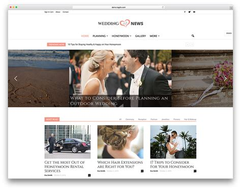 wedding site template 20 best wedding events marriage themes 2017