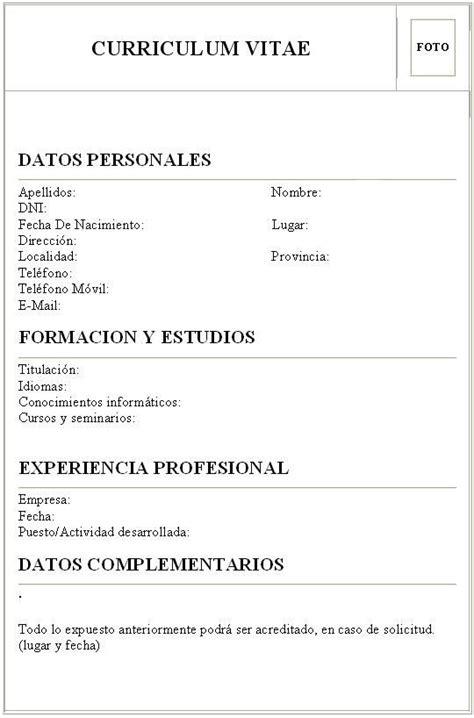 Plantilla De Un Curriculum Vitae Simple curriculum vitae schnazzy name for resume looking to