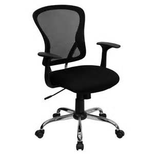 flash mid back mesh office chair with chrome finished base
