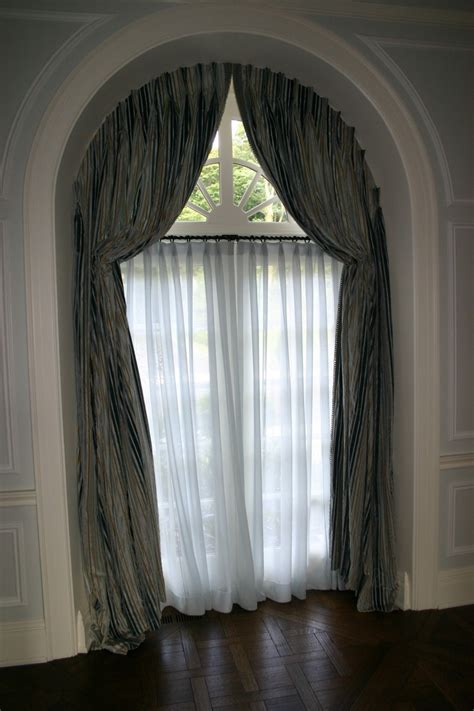curtain designs for arches arched window treatments home decoration ideas half circle