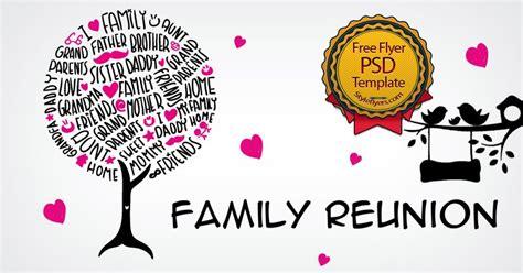 Family Reunion Flyer Templates Free family reunion free psd flyer template free