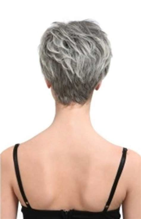 short white hair cuts rear view back of the head view haircuts for women over 60 short