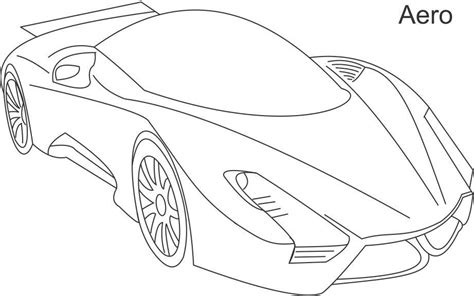 Super cars Aero coloring page for kids
