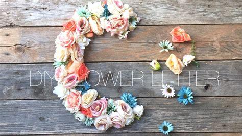 lettere con fiori diy flower letter lettere di fiori apuntoc
