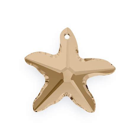 Pendant Swarovski Starfish Golden Shadow 20 Mm swarovski starfish 6721 16mm golden shadow large swarovski pendant
