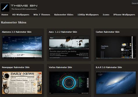 themes for windows 7 free download 2014 hd 6 best sources to download rainmeter themes and skins