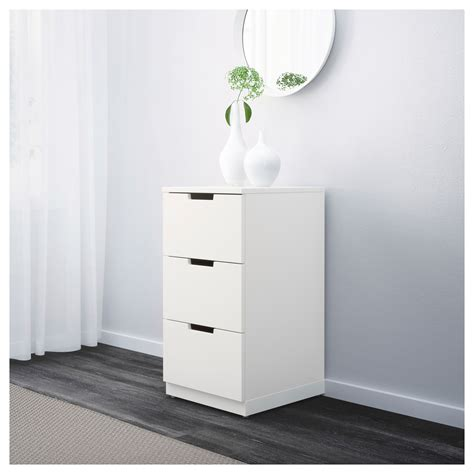 3 drawer chest of drawers ikea nordli chest of 3 drawers white 40x75 cm ikea