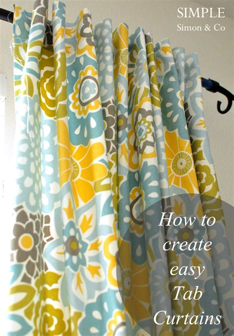 easy curtain tutorial tab top curtain tutorial simple simon and company