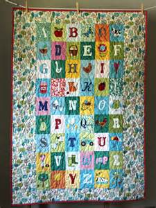 modern gender neutral baby quilt toddler quilt alphabet