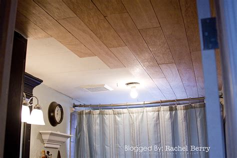 wood ceiling in bathroom the rachel berry blog planked bathroom ceiling