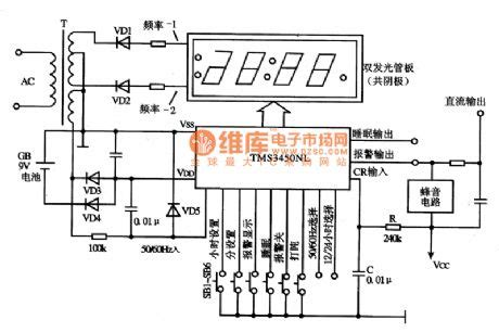 tms3450nl digital clock integrated circuit diagram circuit diagram world