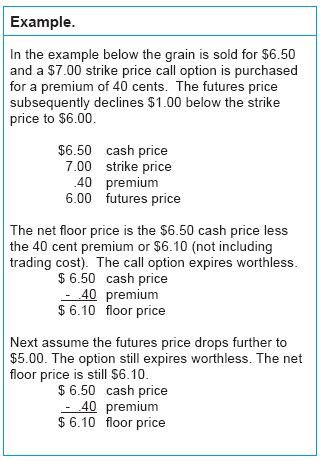options tools to reduce price risk ag decision maker