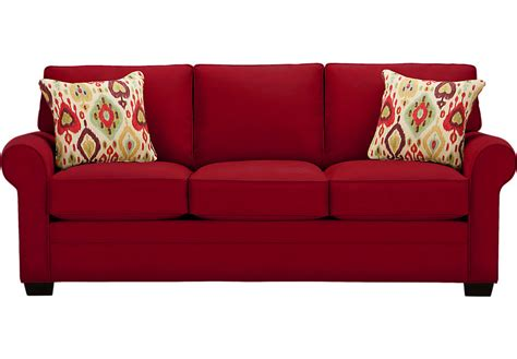 couch pictures cindy crawford home bellingham cardinal sofa sofas red