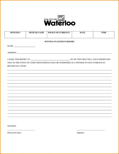 section 9 witness statement template witness statement form financial statement form