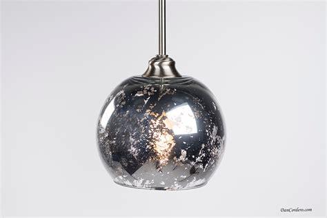 Mercury Glass Light Pendant Mercury Glass Pendant Light Fixture Edison Bulb By Dancordero