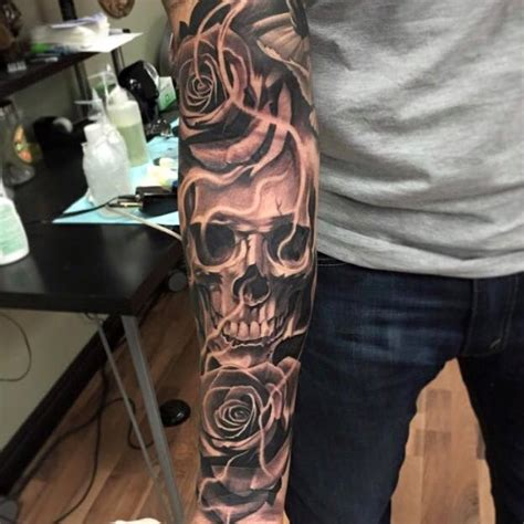tattoo cost full back full sleeve skull tattoo by ricardo avila tattoo