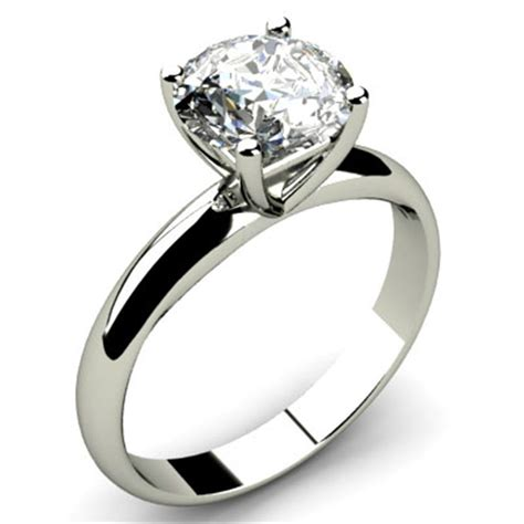 Solitaire Rings by Engagement 1 50ctw Solitaire 14k Hallmark White Gold Ring