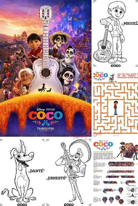coco free download disney pixar coco coloring and activity sheets free download