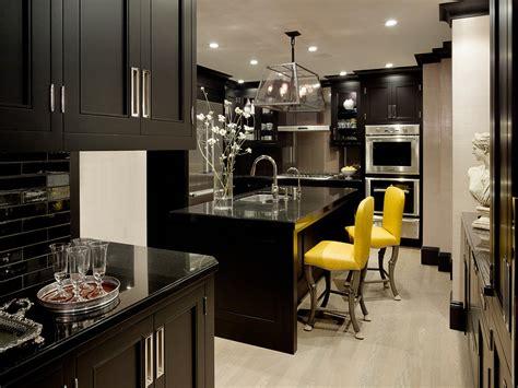 modern black kitchen cabinets black wood kitchen cabinets design ideas