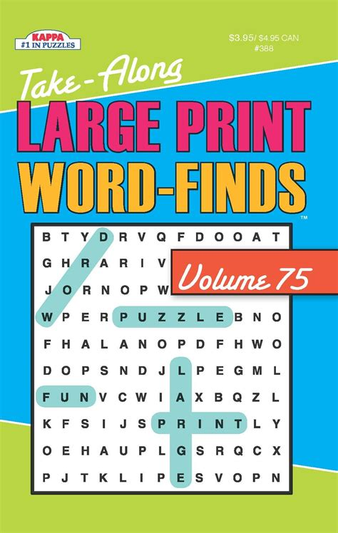 picture word find puzzle books kydz take along large print word find puzzle book word