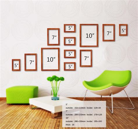 12 pcs reality wood picture photo frame wall set art work luxury 12pcs photo frame picture wall mounted wood photo