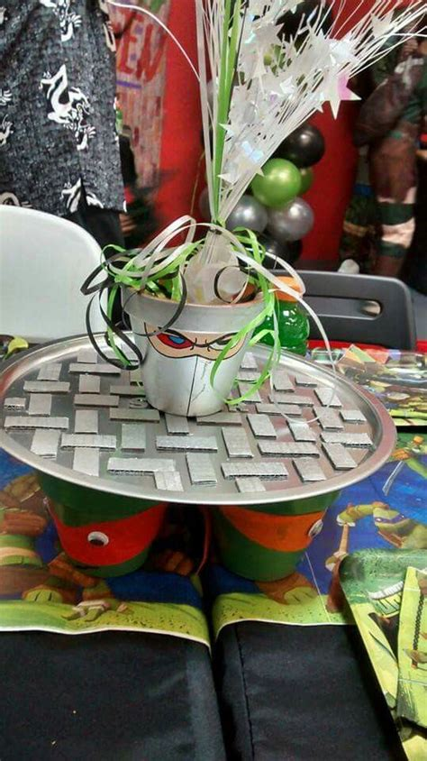 themes come true teenage mutant ninja turtle birthday party centerpiece by