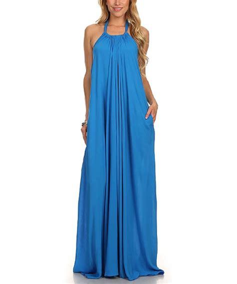 Ready Gamis Amira Maxi Blue Rn blue halter maxi dress zulily