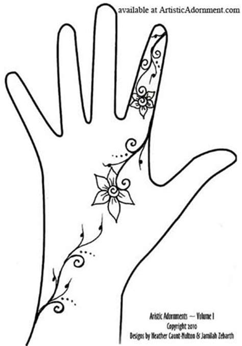 henna design templates for hands free patterns henna by heather