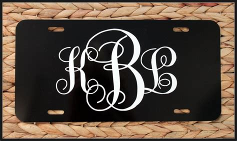 Unique Vanity Plates by Unique Gift Monogrammed License Plate Personalized Initials