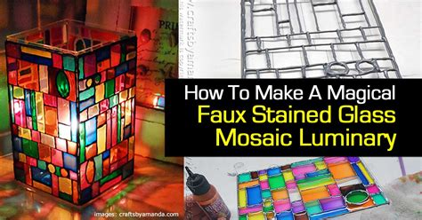 how to make glass how to make a magical faux stained glass mosaic luminary