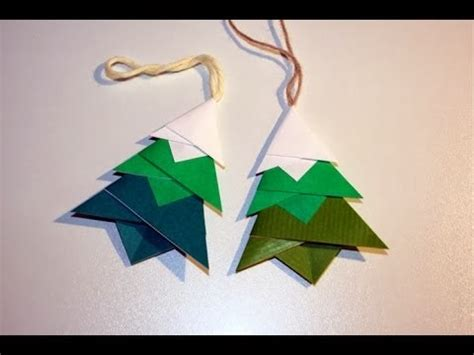 Origami Tree Ornament - origami maniacs tree ornament designed by toshie