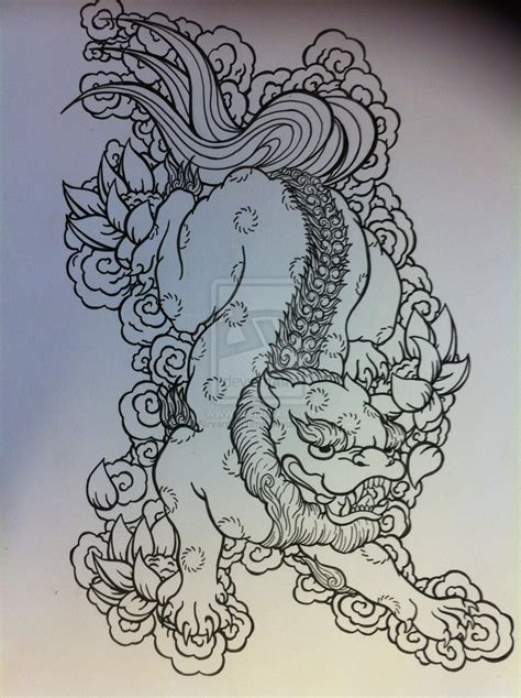 foo dog tattoo design nirvanaoftime guardian foo fu tattoos i like