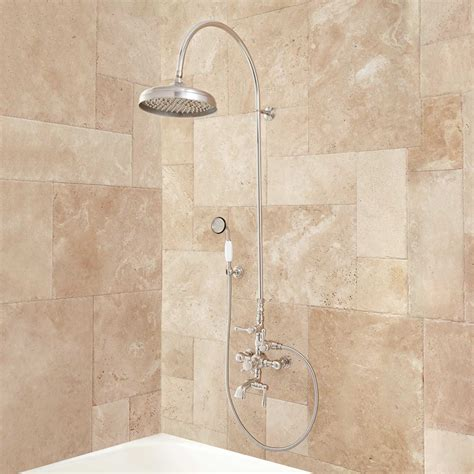 1 bathtub shower oxford thermostatic tub and shower set 18 quot arching