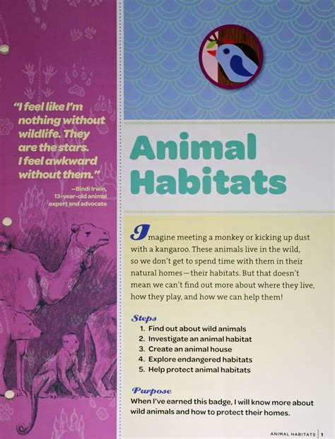 themes for girl scout day c junior animal habitats animal theme badges pinterest