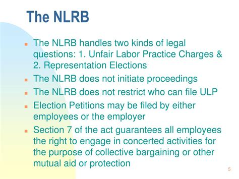 nlrb section 7 ppt the national labor relations act powerpoint