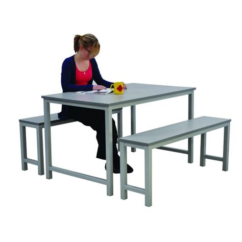 bench seat and table canteen table with bench seating