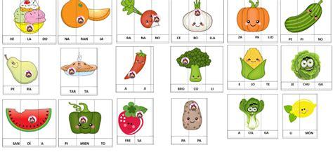 cuarto silabas fabulosas silabas para recortar y armar para primer grado
