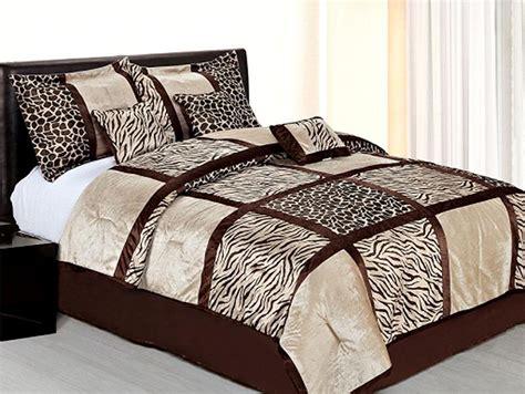 leopard comforter queen 7 pcs safari leopard zebra microfiber bedding comforter