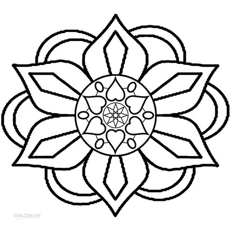simple pattern colouring pages free coloring pages of rangoli pattern