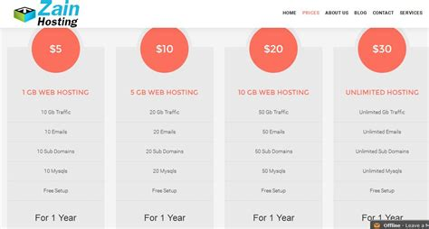 cheap web cheap web hosting plans zain hosting